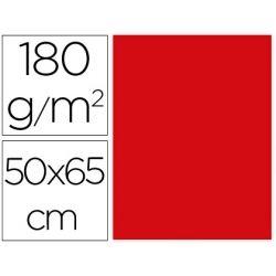 CARTULINA LIDERPAPEL 50X65 CM 180G/M2 ROJO NAVIDAD