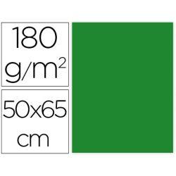 CARTULINA LIDERPAPEL 50X65 CM 180G/M2 VERDE NAVIDAD