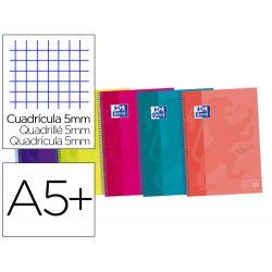 CUADERNO ESPIRAL OXFORD EBOOK 4 TAPA EXTRADURA DIN A5+ 120 H CUADRICULA 5 MM COLORES SURTIDOS TOUCH