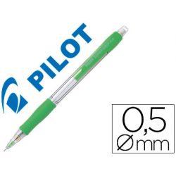 PORTAMINAS PILOT SUPER GRIP VERDE CLARO 0,5 MM SUJECION DE CAUCHO