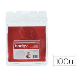 TARJETA PVC PARA IMPRESORA BADGY GROSOR 0,76 MM PACK DE 100 UNIDADES