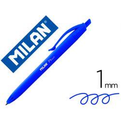 BOLIGRAFO MILAN P1 RETRACTIL 1 MM TOUCH AZUL