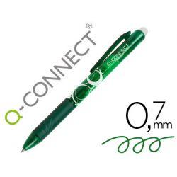 BOLIGRAFO Q-CONNECT RETRACTIL BORRABLE 0,7 MM COLOR VERDE