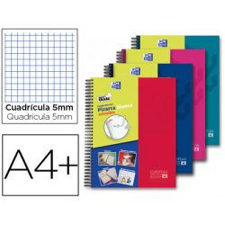 CUADERNO ESPIRAL OXFORD EUROPEANBOOK 5 WRITE&ERASE SCHOOL CLASSIC DIN A4+ 120 HOJAS CUADRO 5 MM CON