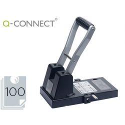 TALADRADOR Q-CONNECT KF18766 NEGRO 2 TALADROS ABERTURA 10 MM CAPACIDAD 100 HOJAS