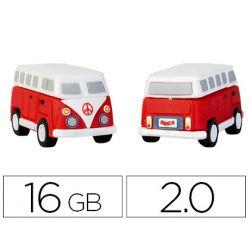MEMORIA USB TECHONETECH FLASH DRIVE 16 GB 2.0 HIPPY VAN BANG CAMPER