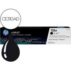 TONER HP LASERJET PRO 126A CP1025 CP1025NW NEGRO PACK DE 2 UNIDADES 1600 PAGINAS
