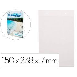 EXPOSITOR MURAL DEFLECTO CLASSIC IMAGE DIN A5 VERTICAL TRANSPARENTE 150X238X7 MM