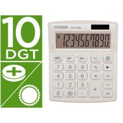 CALCULADORA CITIZEN SOBREMESA SDC-810 NRWHE 10 DIGITOS 124X102X25 MM BLANCO