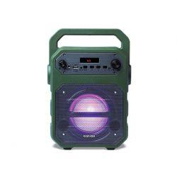 ALTAVOZ DAEWOO PORTATIL DSK-345B MICROFONO CON CABLE LUCES LED RADIO FM USB ENTRADA JACK MICRO SD