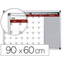 PLANNING MAGNETICO BI-OFFICE MENSUAL LACADO MARCO ALUMINIO ROTULABLE 90X60 CM
