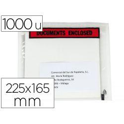SOBRE AUTOADHESIVO Q-CONNECT PORTADOCUMENTOS MULTILINGUE 225X165 MM SIN VENTANA PAQUETE DE 1000 UNID
