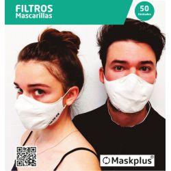 50 recambios de filtro de papel para mascarilla Maskplus.