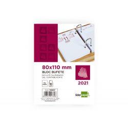 BLOC BUFETE LIDERPAPEL 80X110 MM 2021 PAPEL 80 GR TEXTO EN CATALAN