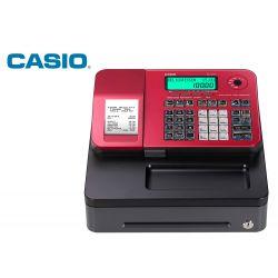 REGISTRADORA CASIO SE-S100 ROJO 24 DEPARTAMENTOS DISPLAY LCD CAJON PEQUEÑO