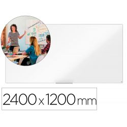 PIZARRA BLANCA NOBO IP PRO ACERO VITRIFICADO MAGNETICO 2400X1200 MM