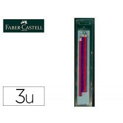 LAPICES BICOLOR FINO FABER CASTELL 2160-RB HEXAGONAL ROJO/AZUL BLISTER DE 3 UNIDADES