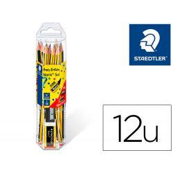 LAPICES DE GRAFITO STAEDTLER NORIS N.2 HB BLISTER PROMOCIONAL 120 ANIVERS DE 12 UDS + AFILALAPIZ Y G