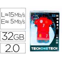 MEMORIA USB TECH ON TECH SELECCION FUTBOL ESPAÑA MUNDIAL BRASIL 32 GB