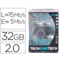 MEMORIA USB TECH ON TECH CAMARA FOTOS THE PERFECT ONE 32 GB