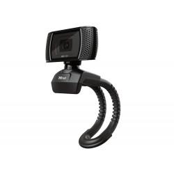 CAMARA WEBCAM TRUST TRINO CON MICROFONO Y BOTON CAPTURADOR DE IMAGEN 1280X720 HD 1440P USB 2.0 COLOR