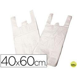 BOLSA PLASTICO CAMISETA 40X60 CM -PAQUETE 200