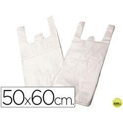 BOLSA PLASTICO CAMISETA P/200 50X60 CM -PAQUETE 200