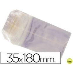 BOLSAS CELOFAN 35X180 MM -PAQUETE 100