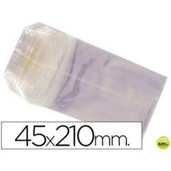 BOLSAS CELOFAN 45X210 MM -PAQUETE 100