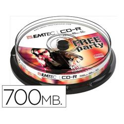 CD-R EMTEC CAPACIDAD 700MB DURACION 80MIN VELOCIDAD 52X CAJA -1 UNIDAD-