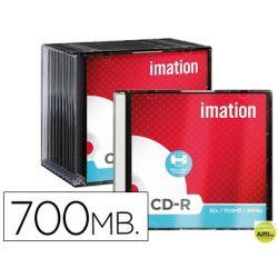 CD-R IMATION CAPACIDAD 700MB DURACION 80MIN VELOCIDAD 52X SUPERFICIE IMPRIMIBLE CAJA SLIM -1 UNIDAD-