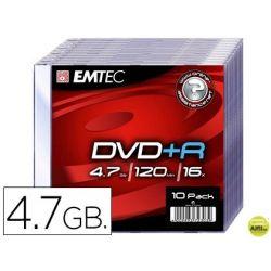 DVD+R EMTEC CAPACIDAD 4,7GB VELOCIDAD 16X CAJA SLIM -1 UNIDAD-