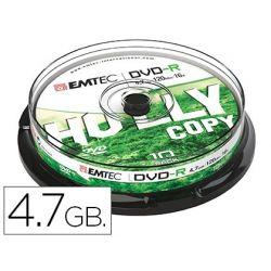DVD-R EMTEC CAPACIDAD 4,7GB VELOCIDAD 16X CAJA -1 UNIDAD-
