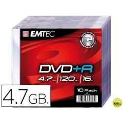DVD-R EMTEC CAPACIDAD 4,7GB VELOCIDAD 16X CAJA SLIM -1 UNIDAD-