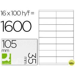 ETIQUETA ADHESIVA Q-CONNECT KF10653 TAMANO 105X35 MM FOTOCOPIADORA LASER -INK-JET