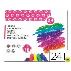 LAPICES CERA BLANDA LIDERPAPEL-CAJA DE 24 COLORES