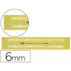 NORMOGRAFO MOR 0.6 MM PLASTICO VERDE