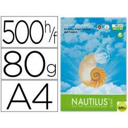 PAPEL FOTOCOPIADORA NAUTILUS DIN A4 80 GRAMOS -PAQUETE DE 500 HOJAS 100% RECICLADO