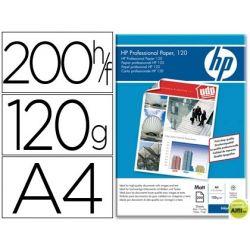 PAPEL HP PROFESIONAL PARA INKJET 120, MATE, A4 (200HOJAS) 120 GR.
