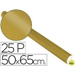 PAPEL METALIZADO ORO ROLLO 25 HOJAS TREPADO 50X65 CM