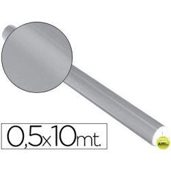 PAPEL METALIZADO PLATA ROLLO DE 0.5 X 10 MT