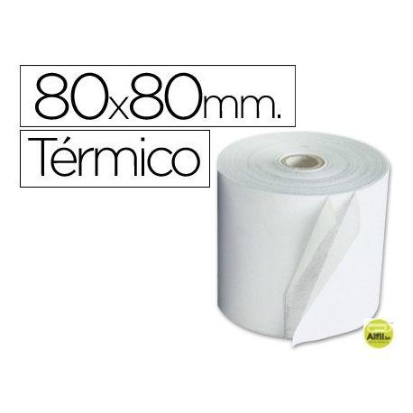 ROLLO SUMADORA TERMICO Q-CONNECT 80 MM ANCHO X 80 MM DIAMETRO