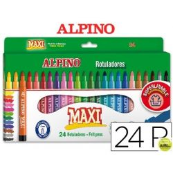 ROTULADOR ALPINO MAXI -CAJA DE 24 COLORES