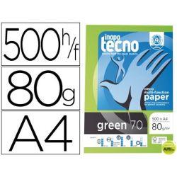 PAPEL FOTOCOPIADORA TECNO GREEN 100 % RECICLADO DIN A4 80 GRAMOS PAQUETE DE 500 HOJAS