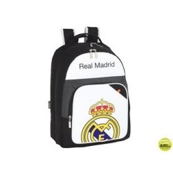 CARTERA ESCOLAR SAFTA REAL MADRID MOCHILA DOBLE 32X42X16 CM