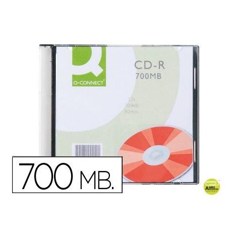 CD-R Q-CONNECT CAPACIDAD 700MBDURACION 80MIN VELOCIDAD 52X CAJA SLIM 1 UNIDAD