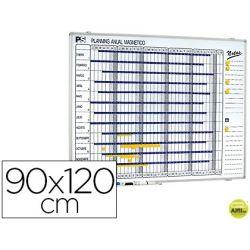 PLANNING MAGNETICO 1000/50 ANUAL DIA A DIA SUPERFICIE BLANCA ROTULABLE TAMA¾O 90X120 CM