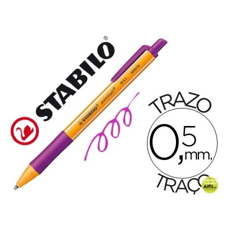 BOLIGRAFO STABILO POINTBALL 0,5 MM RETRACTIL LILA