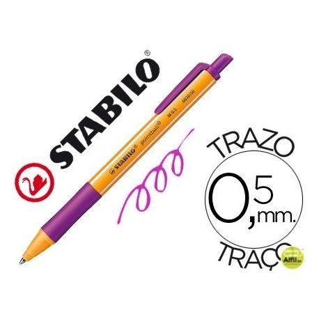 BOLIGRAFO STABILO POINTBALL 0,5 MM RETRACTIL LILA