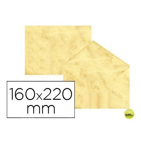 SOBRE FANTASIA MARMOLEADO AMARILLO 160X220 MM 90 GR